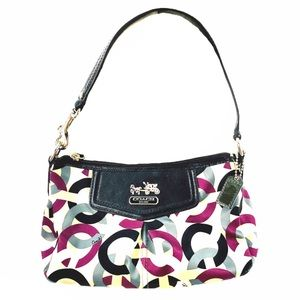 Coach Madison Satin/Leather Trim Hobo Bag